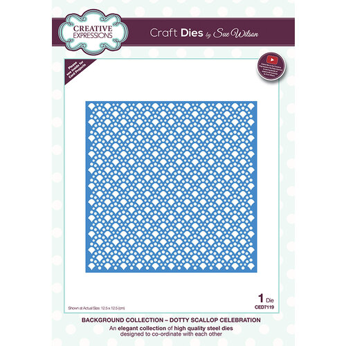 Creative Expressions - Background Collection - Dies - Dotty Scallop Celebration