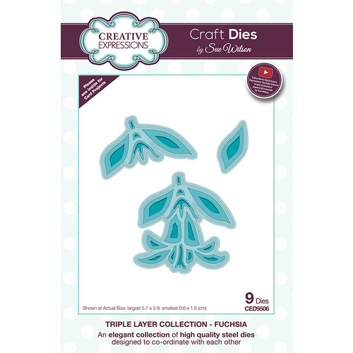 Creative Expressions - Triple Layer Collection - Dies - Fuchsia