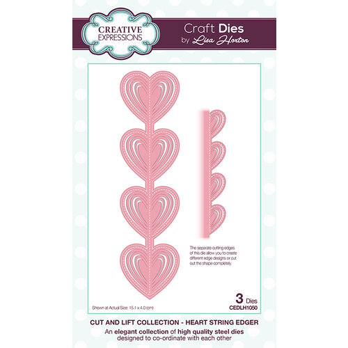 Creative Expressions - Cut and Lift Collection - Dies - Heart String Edger