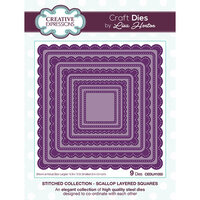 Creative Expressions - Stitched Collection - Dies - Scallop Layered Squares