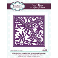 Creative Expressions - Broken Tiles Collection - Dies - Botanical Dragonfly