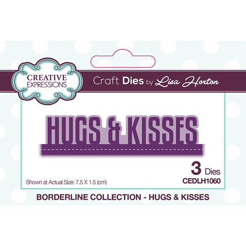 Creative Expressions - Borderline Collection - Dies - Hugs and Kisses