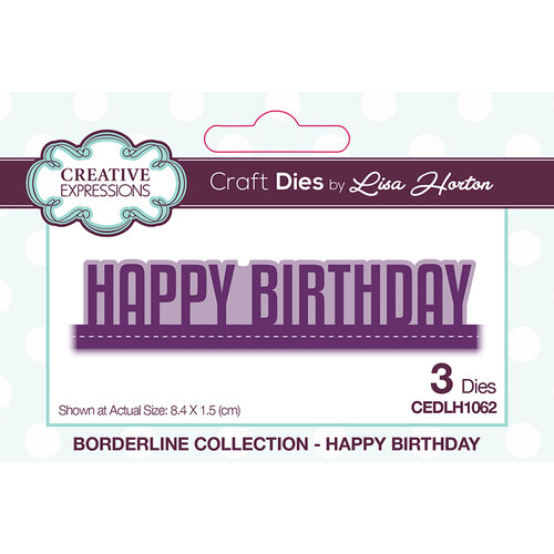 Creative Expressions - Borderline Collection - Dies - Happy Birthday
