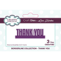 Creative Expressions - Borderline Collection - Dies - Thank You