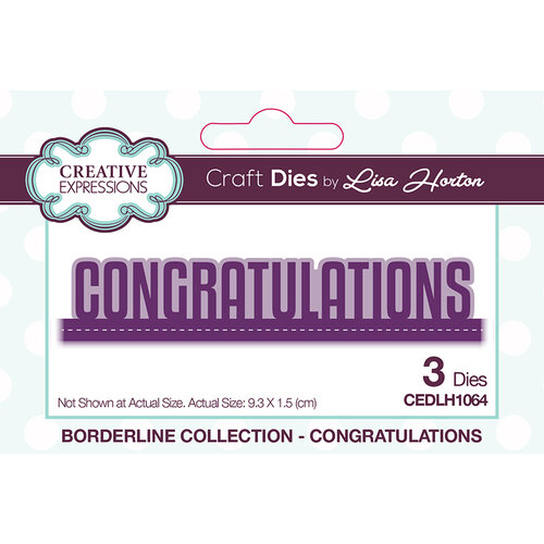 Creative Expressions - Borderline Collection - Dies - Congratulations