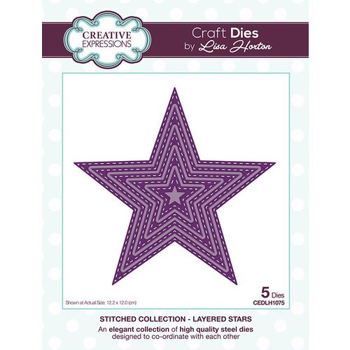 Creative Expressions - Stitched Collection - Dies - Layered Stars