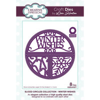 Creative Expressions - Christmas - Sliced Circles Collection - Dies - Winter Wishes