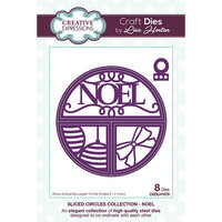 Creative Expressions - Christmas - Sliced Circles Collection - Dies - Noel