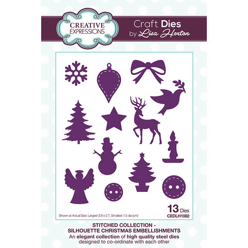 Creative Expressions - Stitched Collection - Dies - Silhouette Christmas Embellishments
