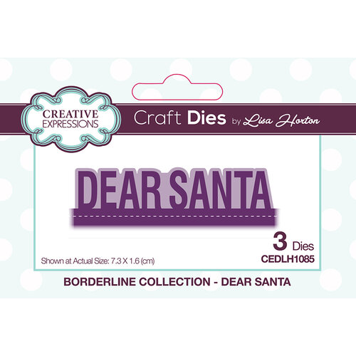 Creative Expressions - Christmas - Borderline Collection - Dies - Dear Santa