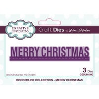 Creative Expressions - Borderline Collection - Dies - Merry Christmas