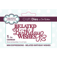 Creative Expressions - Craft Dies - Mini Expressions - Belated Birthday Wishes