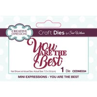 Creative Expressions - Mini Expressions Collection - Dies - You are the Best