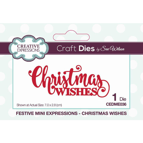 Creative Expressions - Craft Die - Festive Mini Expressions - Christmas Wishes