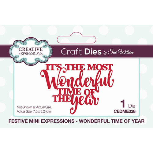 Creative Expressions - Christmas - Craft Die - Festive Mini Expressions - Wonderful Time Of Year