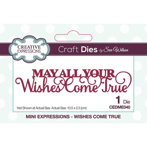 Creative Expressions - Mini Expressions Collection - Dies - Wishes Come True