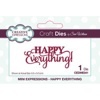 Creative Expressions - Mini Expressions Collection - Dies - Happy Everything