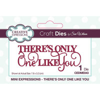 Creative Expressions - Mini Expressions Collection - Dies - There's Only One Like You