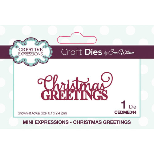 Creative Expressions - Mini Expressions Collection - Craft Dies - Christmas Greetings