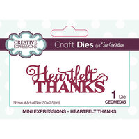 Creative Expressions - Mini Expressions Collection - Craft Dies - Heartfelt Thanks