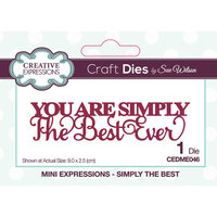 Creative Expressions - Mini Expressions Collection - Craft Dies - Simply The Best