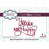 Creative Expressions - Mini Expressions Collection - Craft Dies - You Make Me Happy