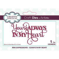 Creative Expressions - Mini Expressions Collection - Craft Dies - Always in My Heart