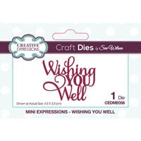 Creative Expressions - Mini Expressions Collection - Dies - Wishing You Well