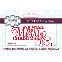 Creative Expressions - Christmas - Festive Collection - Craft Die - We Wish You A Merry Christmas