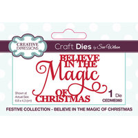 Creative Expressions - Christmas - Festive Collection - Craft Die - Believe In The Magic Of Christmas