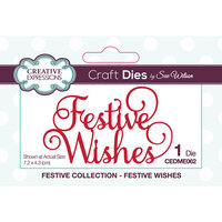 Creative Expressions - Christmas - Festive Collection - Craft Die - Festive Wishes