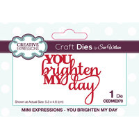 Creative Expressions - Mini Expressions Collection - Craft Die - You Brighten My Day