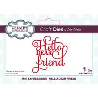 Creative Expressions - Mini Expressions Collection - Craft Die - Hello Dear Friend