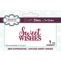 Creative Expressions - Mini Expressions Collection - Craft Dies - Sweet Wishes