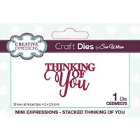 Creative Expressions - Mini Expressions Collection - Craft Dies - Thinking of You