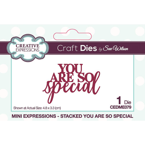 Creative Expressions - Mini Expressions Collection - Craft Dies - You Are So Special