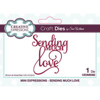 Creative Expressions - Craft Dies - Mini Expressions - Sending Much Love