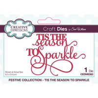 Creative Expressions - Festive Collection - Christmas - Craft Die - Mini Expressions - Tis The Season To Sparkle