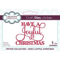 Creative Expressions - Festive Collection - Craft Die - Mini Expressions - Have A Joyful Christmas