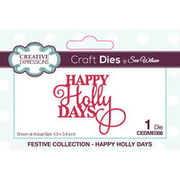 Creative Expressions - Festive Collection - Craft Die - Mini Expressions - Christmas - Happy Holly Days