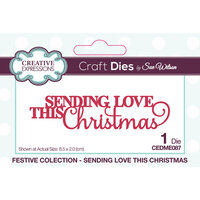 Creative Expressions - Festive Collection - Craft Die - Mini Expressions - Christmas - Sending Love This Christmas