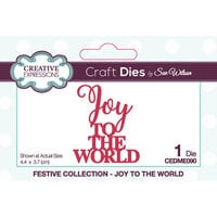 Creative Expressions - Christmas - Craft Dies - Mini Expressions - Joy To The World