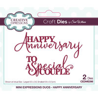 Creative Expressions - Craft Dies - Mini Expressions - Happy Anniversary