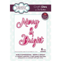 Creative Expressions - Christmas - Craft Die - Noble Expressions - Merry and Bright