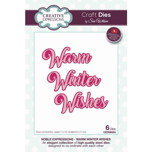 Creative Expressions - Christmas - Craft Die - Noble Expressions - Winter Wishes