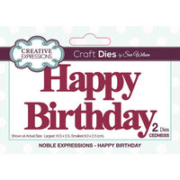 Creative Expressions - Noble Expressions Collection - Dies - Happy Birthday