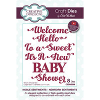 Creative Expressions - Noble Sentiments Collection - Dies - New Born Sentiments