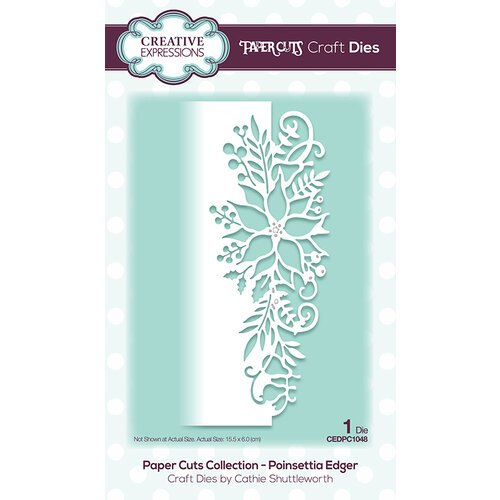 Creative Expressions - Paper Cuts Collection - Dies - Poinsettia Edger