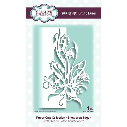Creative Expressions - Paper Cuts Collection - Dies - Snowdrop Edger