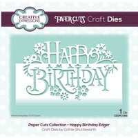 Creative Expressions - Paper Cuts Collection - Dies - Happy Birthday Edger